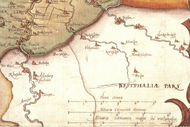 Markhausen im Bruesseler Atlas von 1573